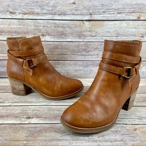 Sperry Chelton Top Sider Leather Ankle Booties 7